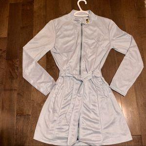 Jackets & Blazers - 🌟NEW🌟 Blue Faux velvet trench coat